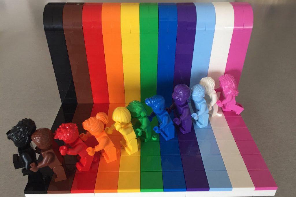 pride lego parade diversity heroes rainbow